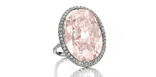 A Rare Pink Diamond Ring at Auction, From the Fabled Golconda Mines