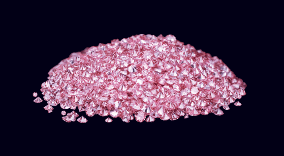Chromism in pink diamonds